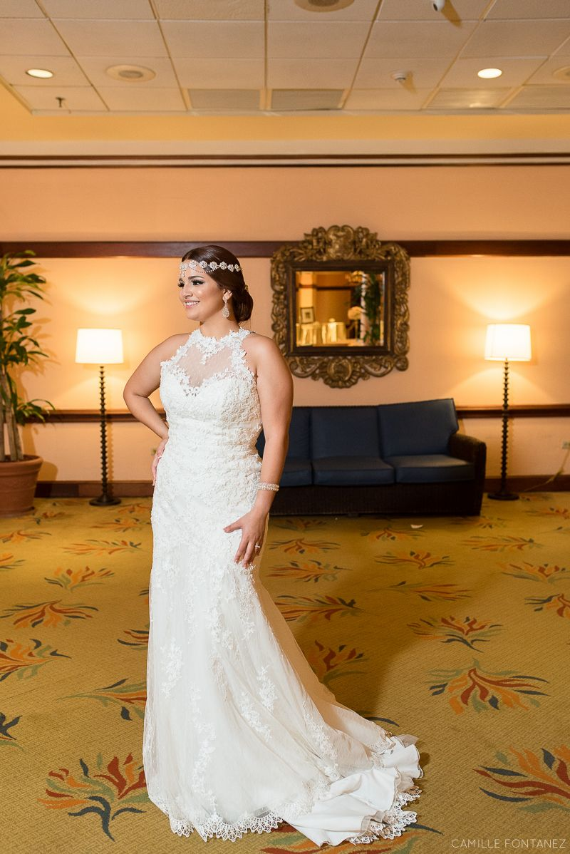The bride changed her headpiece for the reception part.   •••  Chic Wedding at Sheraton Hotel Old San Juan, Puerto Rico  See full wedding here: http://bit.ly/Nixida-Pablo