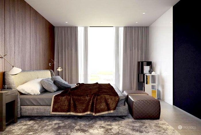 Spacious Bedroom Design Spacious #bedroom Interiorstudio Tolicci Black White Color