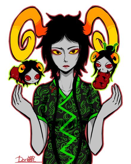 The Handmaid with grub Damara and Aradia