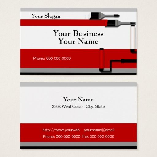 Painter business card template card templates business cards and painter business card template fbccfo Choice Image