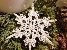 Schneekristall, kostenlos häkeln, Schneestern ...