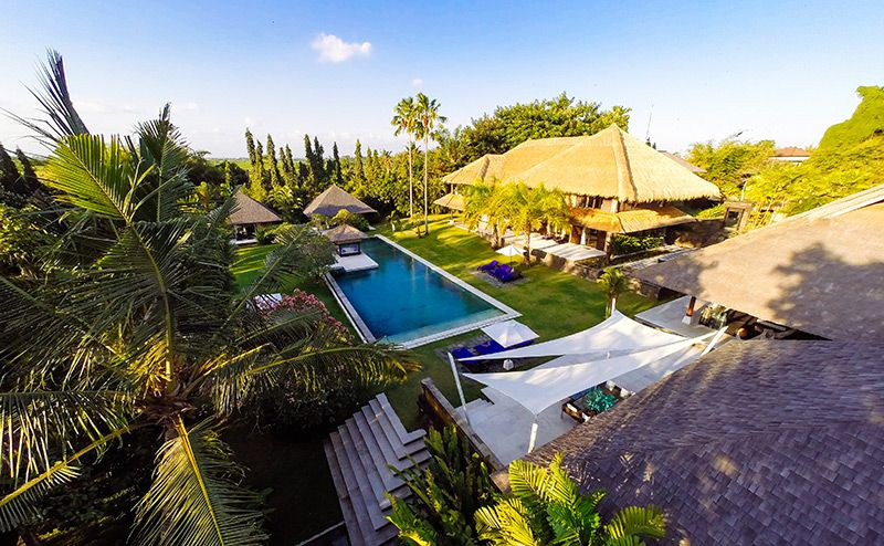 Chalina Estate Overview Tropical Houses Balinese Villa Lawn Borders