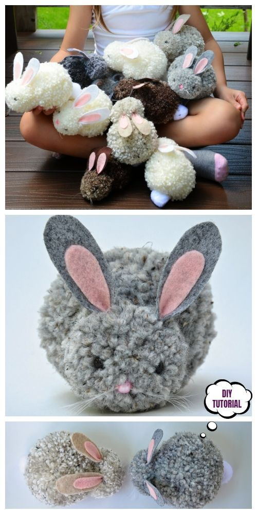 Photo of Easter DIY Pom Pom Bunny Tutorials – DIY Magazine