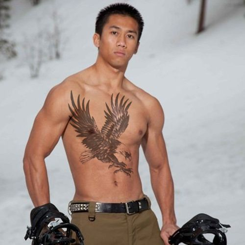 Men Temporary Tattoo Stickers Waterproof Large Eagle Wings Full Back