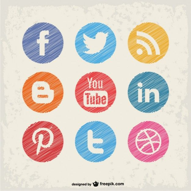Download Social Media Buttons Set For Free Icones Sociais