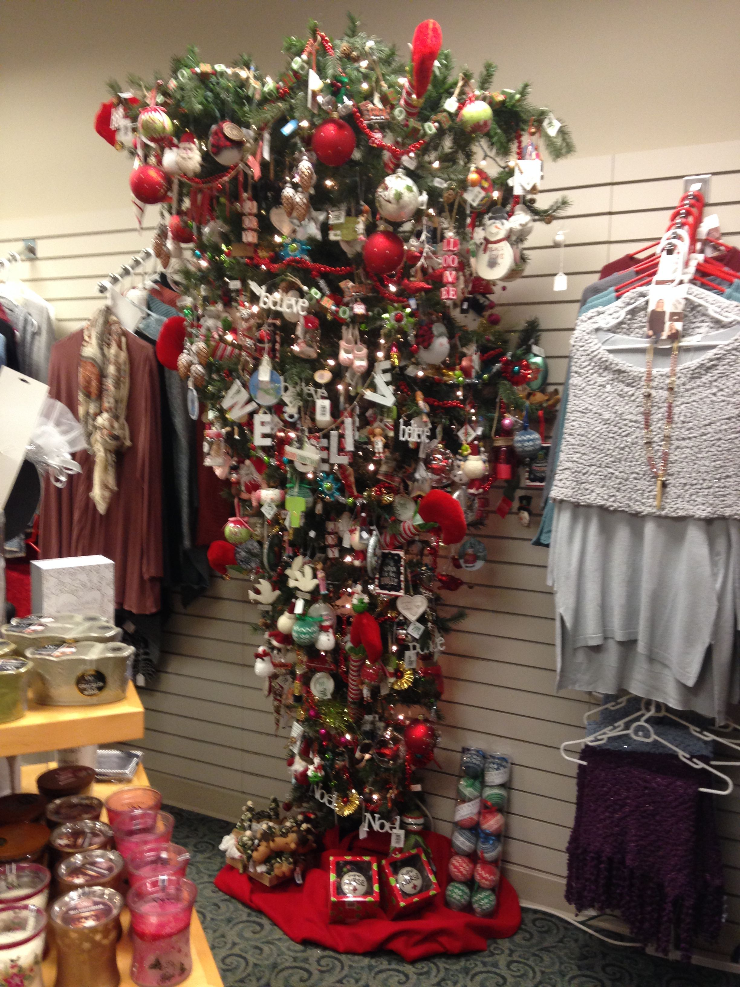 Christmas tree 2016 lots of red this year holiday decor