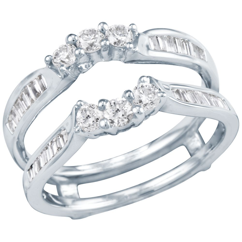 Diamond Wedding Bands Diamond Wedding Band 3 4ct Tw Diamond Solitaire Ring Insert Diamond Wedding Bands Diamond Solitaire Rings Solitaire Engagement Ring