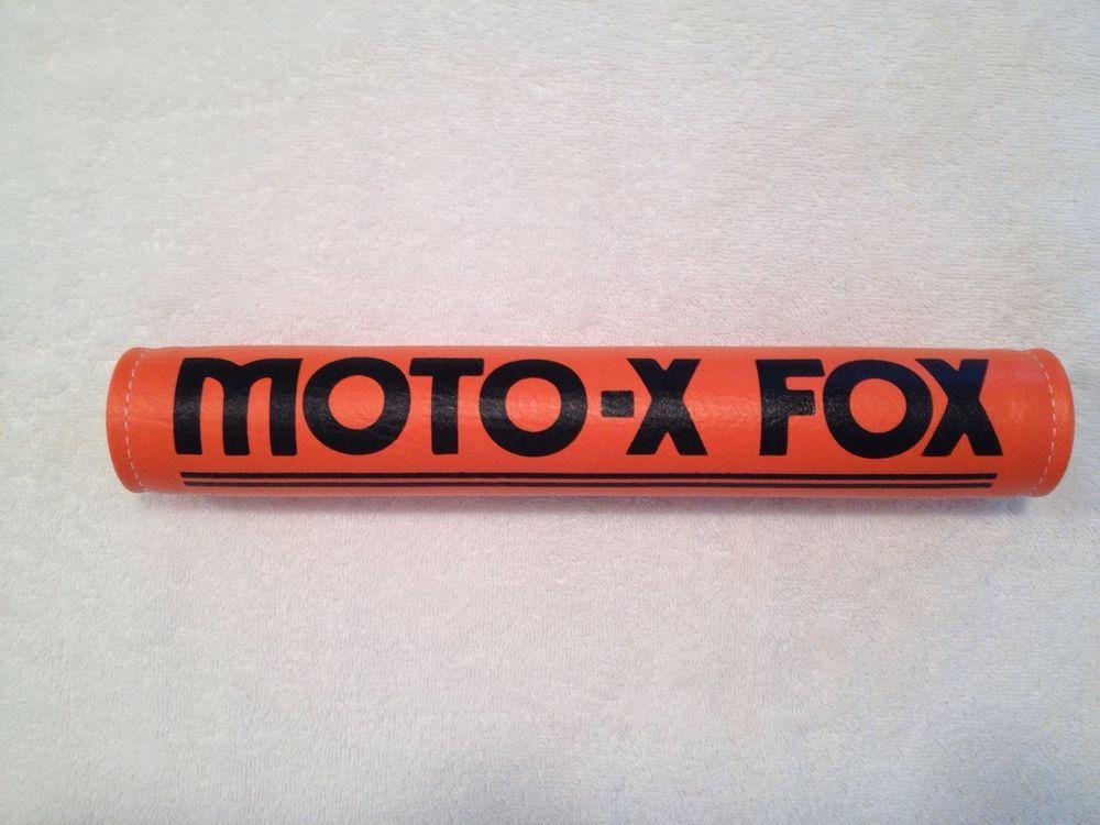 Moto X Fox Crossbar Pad 12 Fox Handlebar Pad Moto Pad Vintage Moto X Fox Vintage Moto Handlebar