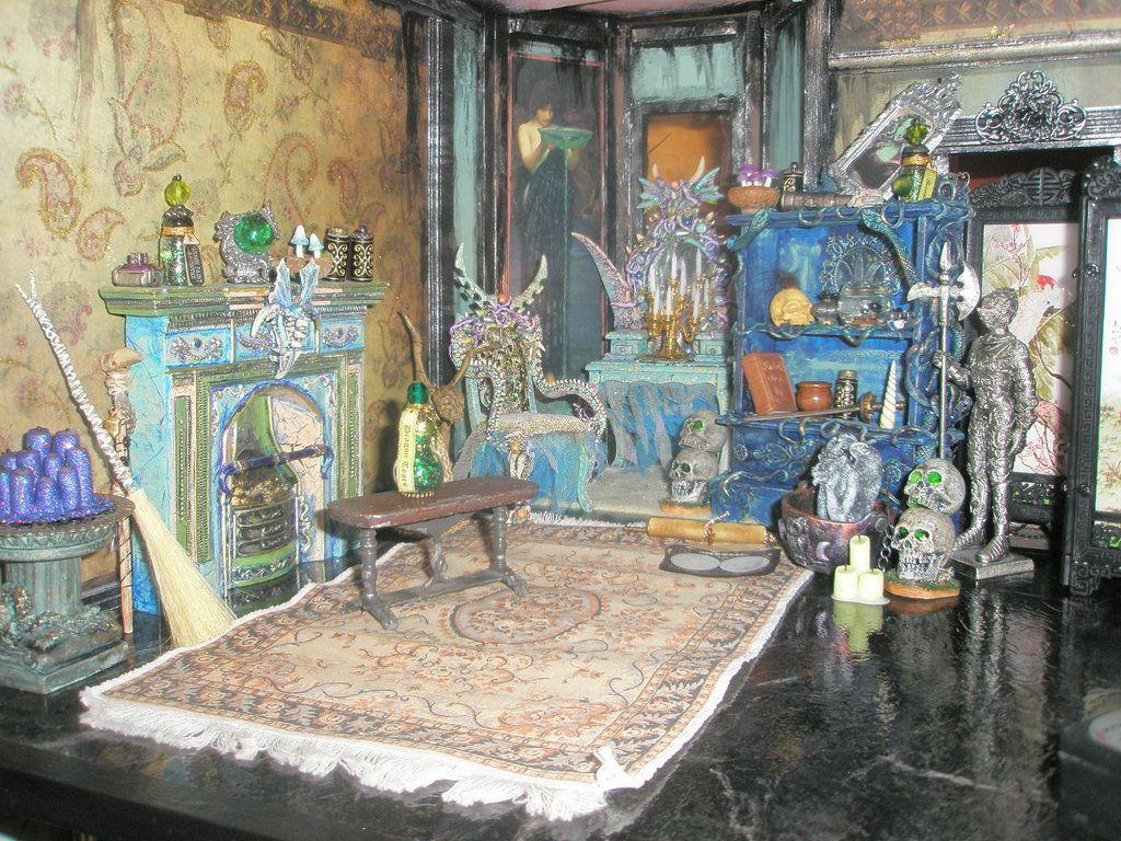 Miniature Dollhouse Bedroom Furniture Dollhouse Miniature Bedrooms Grimhaunt Manor Miniature Dollhouse