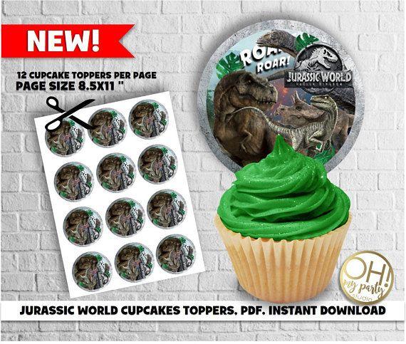 Jurassic World Cupcake Toppers Jurassic World Fallen Kingdom