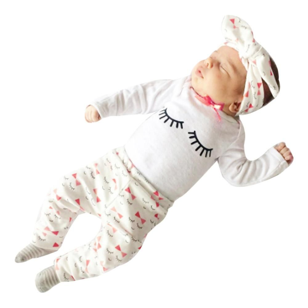 Newborn Baby Boys Girls Plaids Print Hoodies Tops+Pants Kids Outfit Set Clothes