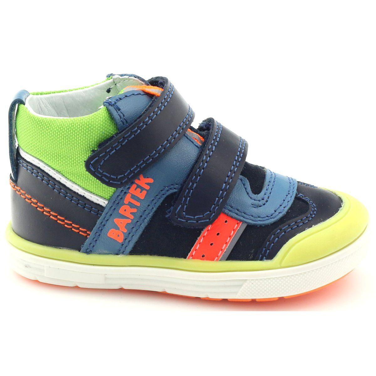 Sportowe Adidasy Wysokie Bartek 81859 Granatowe Zielone Pomaranczowe Niebieskie Shoes Sneakers Fashion