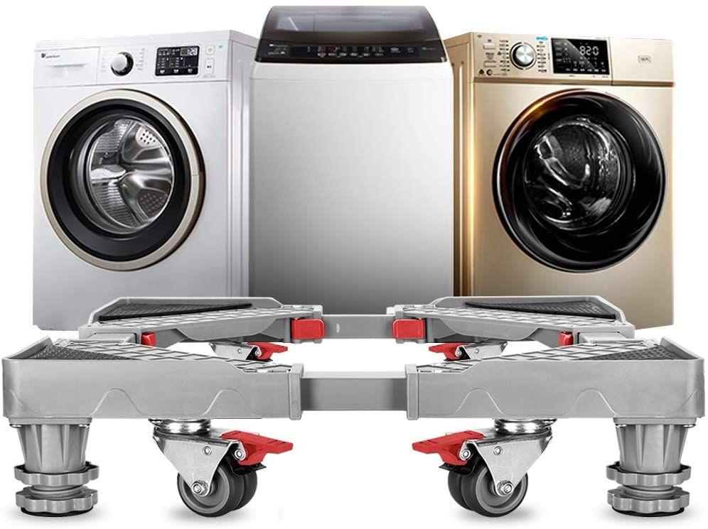 Adjustable Refrigerator Stand Portable Washer Dryer Stand Roller Washing Machine Dolly Pedesta Washer And Dryer Stand Portable Washer And Dryer Portable Washer
