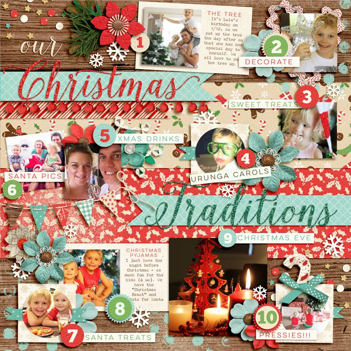 Our Christmas Traditions by Zoe Pearn @ Sweet Shoppe Gallery