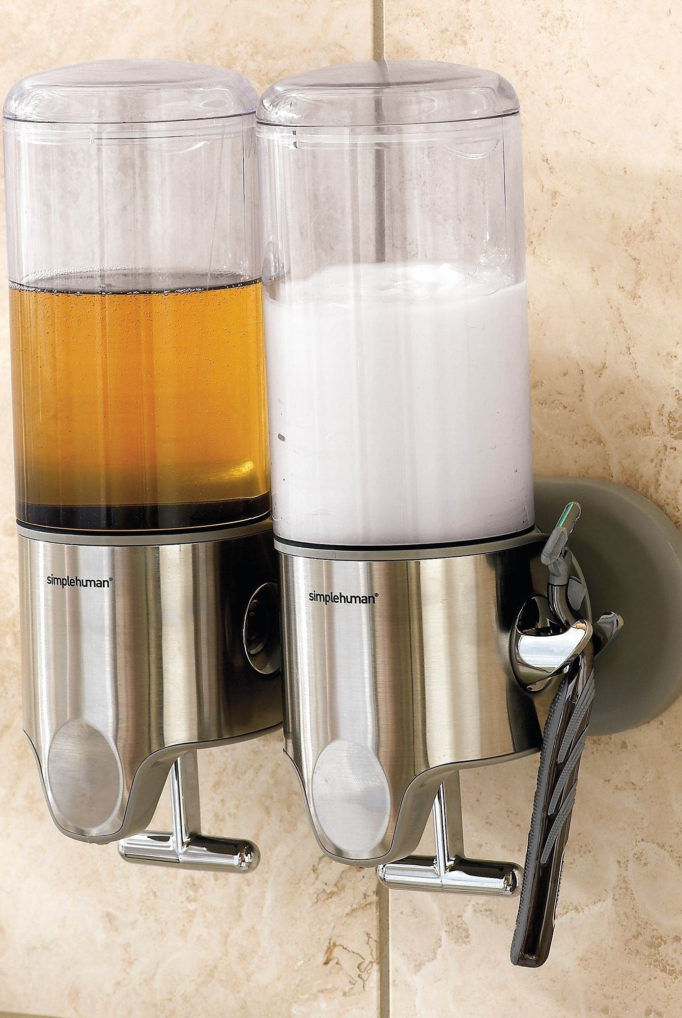At The Push Of A Lever Our Simplehuman Shower Dispenser Dispenses