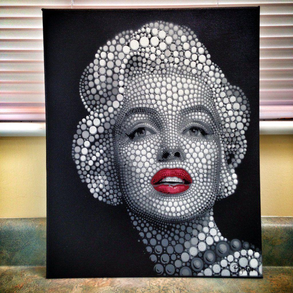 Image result for polka dot portraits art dot art