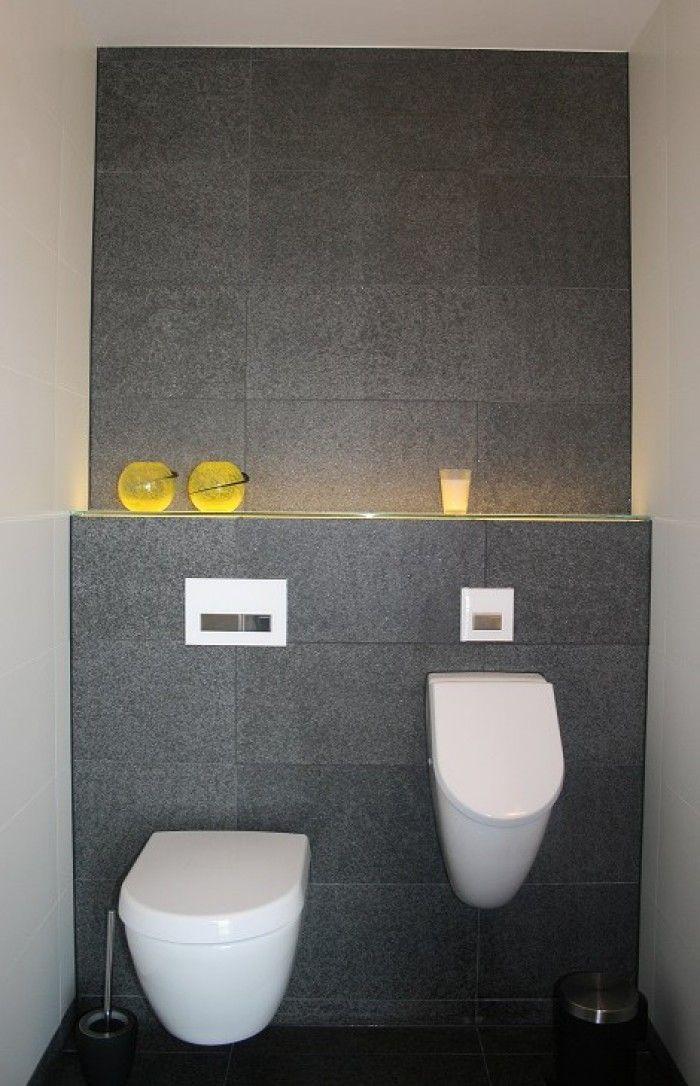 Toilet met Basalt Olivian Black vloer- en wandtegels. Verkrijgbaar ...