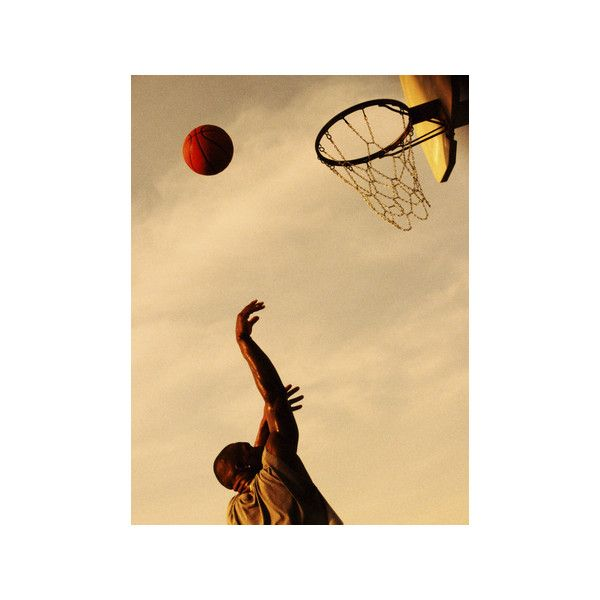 Side Profile of a Mid Adult Man Playing Basketball Photographic Wall ...