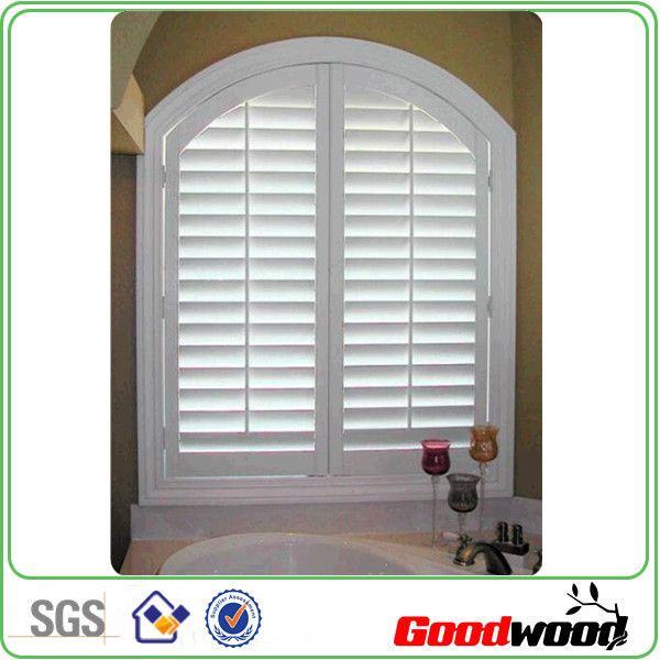 Decorative Poly Interior Window Shutter With Lovered Arched Top   Buy Arch  Poly Plantation Shutter,Operable Poly Louvered Shutter,Vinyl Jalousie  Product On ...