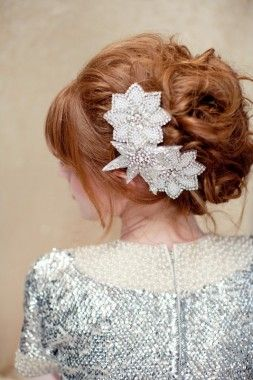 Such a lovely look-Trace Bridal Hair Clip by Lo Boheme