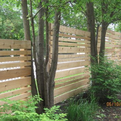Covering Chain Link With Horizontal Wood Planks Chain Link Fence Design Pictures Remodel