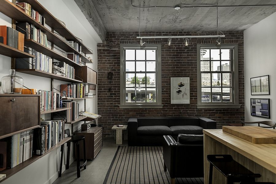 lofty design shelves wall. industrial loft interior design  Google Search Lofty Dreams