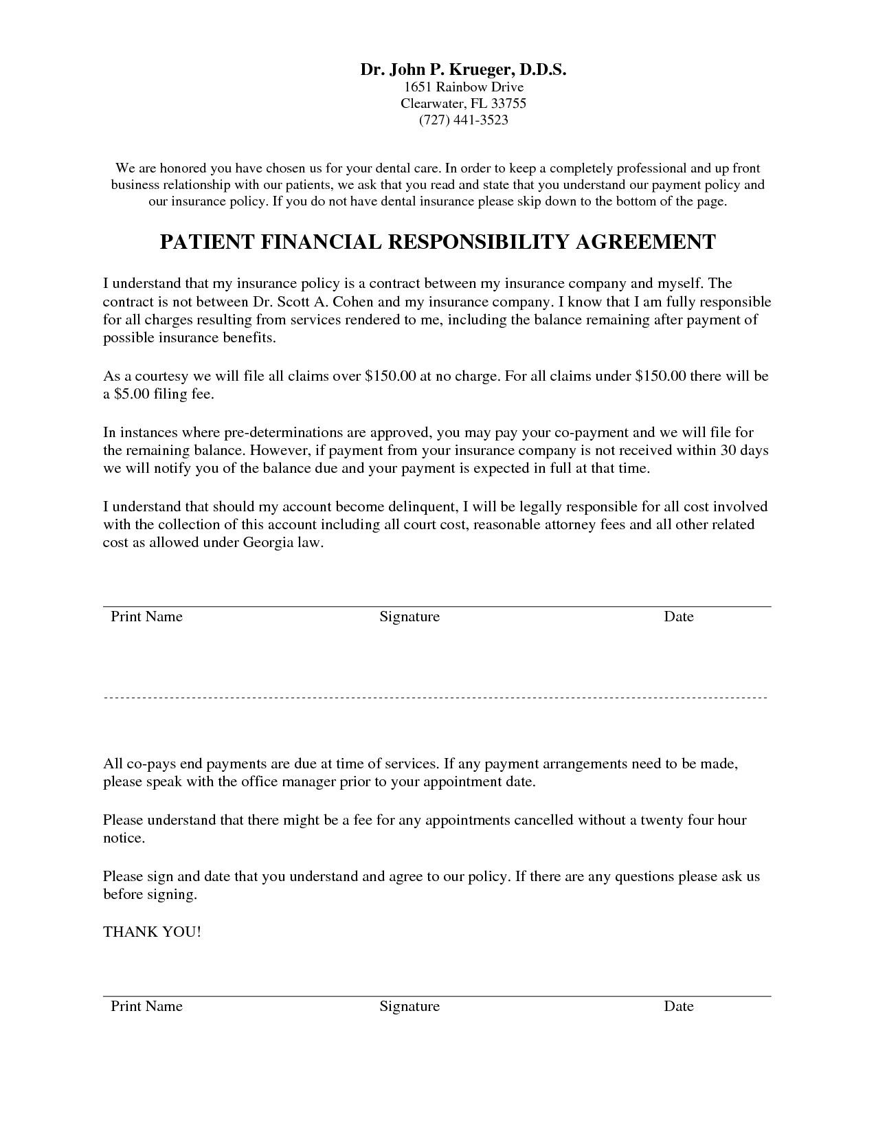 Dental Payment Plan Agreement Template Awesome Dental Payment Plan Agreement Ideal 10 Best Financial How To Plan Dental Template Design