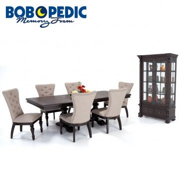 Riverdale 8 Piece Dining Set With Upholstered Chairs And China