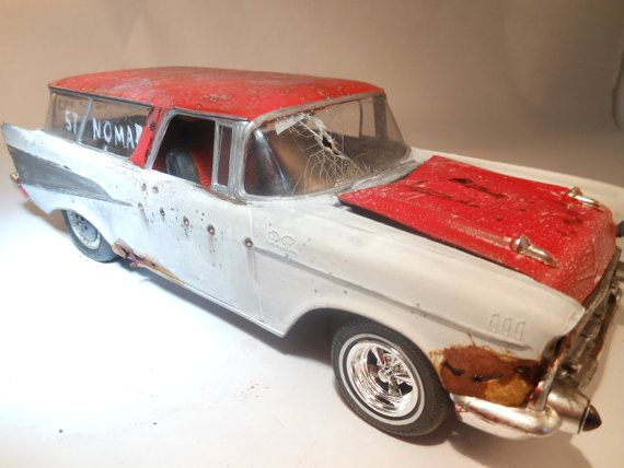 1957 Chevrolet Nomad 1 24 Scale Model Car In Red And White Etsy Scale Models Cars Car Model Scale Models
