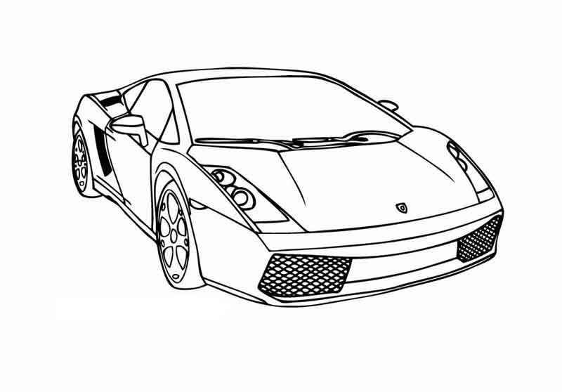 Lamborghini Coloring Page From Transportation Coloring Pages