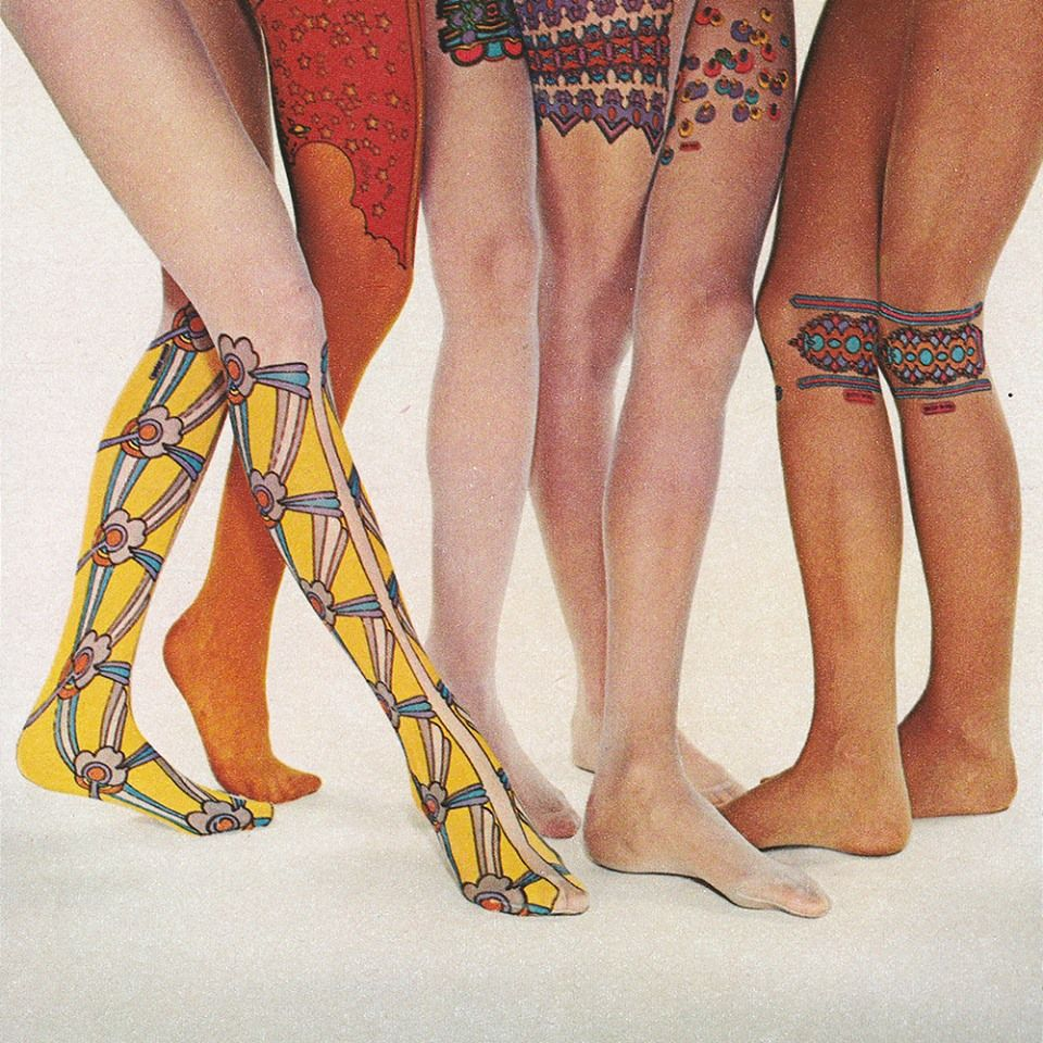 Image result for painting 1960s tights and legs