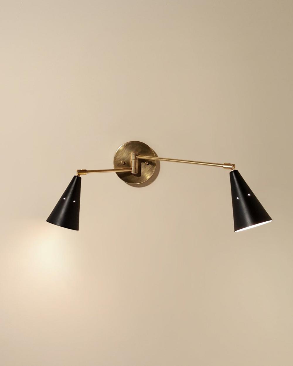 Task Dual Swing Arm Spotlight Adjustable Swivel Wall Sconce Etsy Wall Lamps Bedroom Midcentury Wall Sconces Modern Light Fixtures
