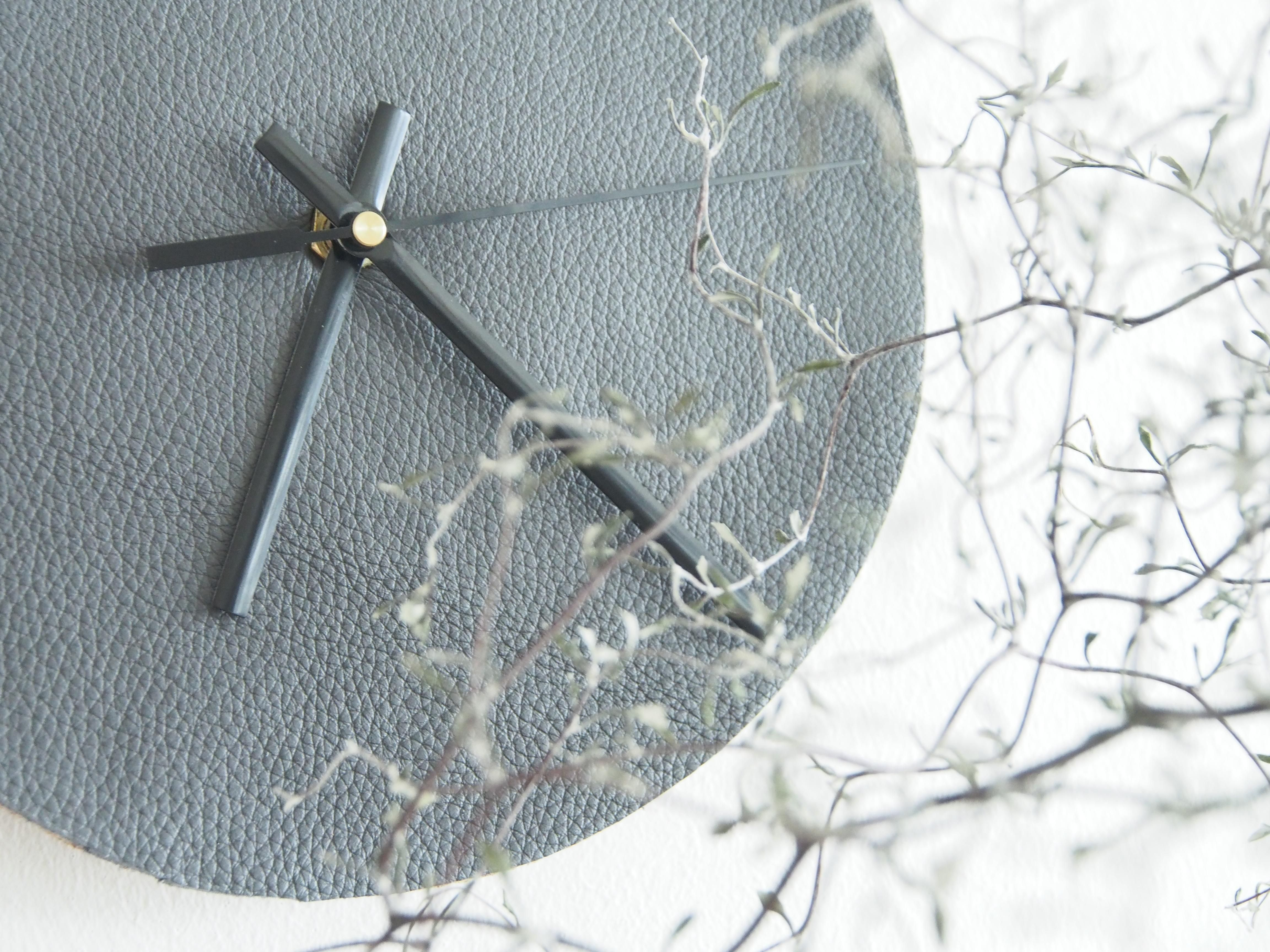 Diy leather wall clock leather wall wall clocks and clocks diy leather wall clock amipublicfo Gallery
