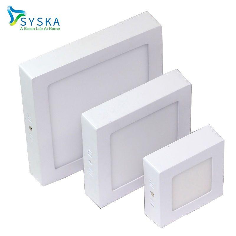 Syska 1pcs Recessed Ceiling Led Down Light Panel Light Square