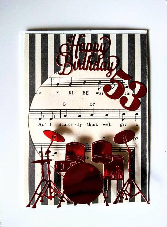 Happy Birthday Drums Card Birthday Wishes Card For Drummers