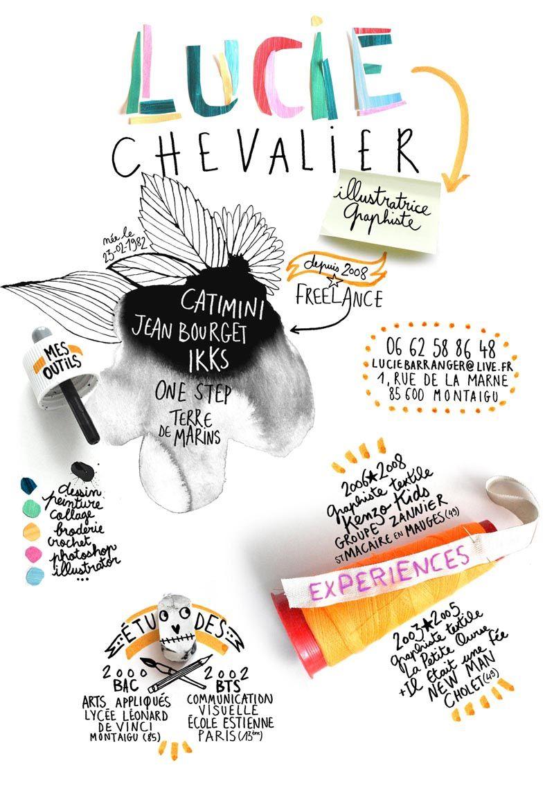 Lucie Chevalier Graphiste Illustratrice Freelance Cv Graphiste Graphiste Cv Graphique