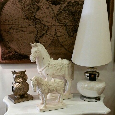 Stone antique standing horses white silver pebble lamp world map stone antique standing horses white silver pebble lamp world map wall art diplayed on gumiabroncs Gallery