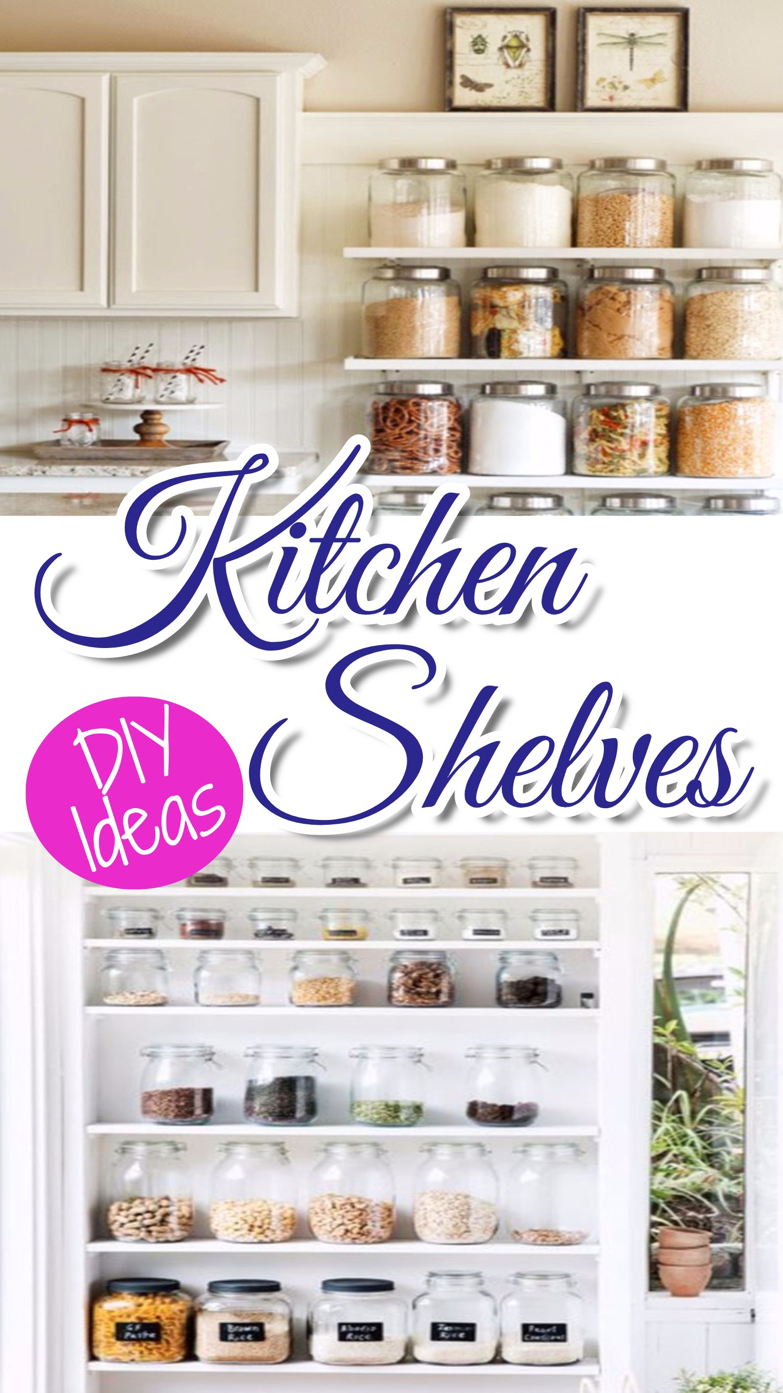 Declutter Your Kitchen - DIY Shelves To Organize a Country Kitchen ...