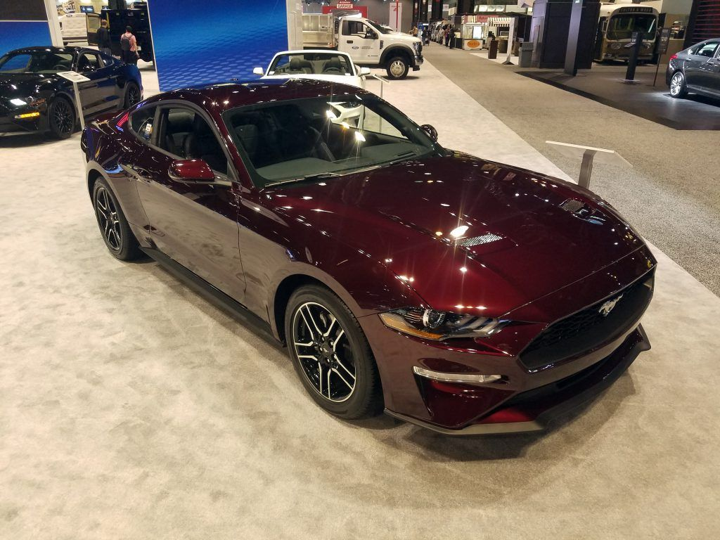 2018 Ford Mustang In Royal Crimson Metallic Car Paint Colors Car Painting Chicago Auto Show