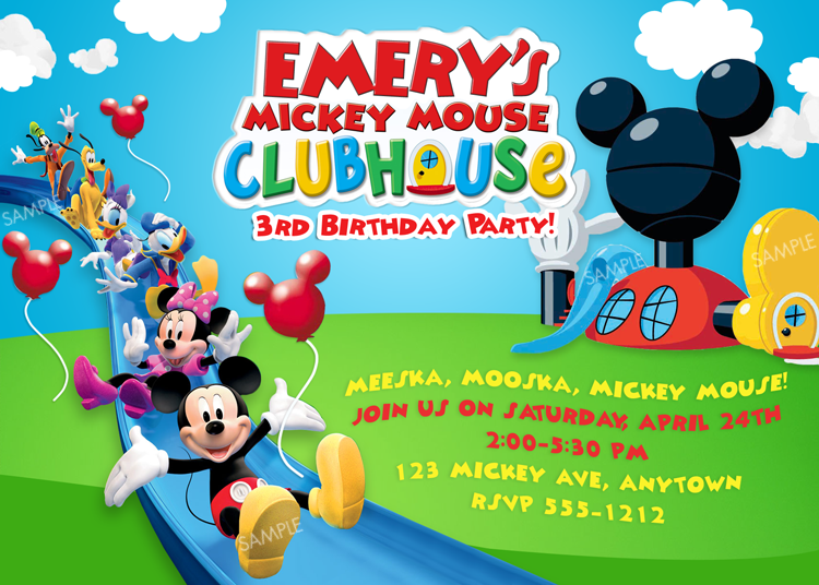 mickey mouse clubhouse invitation free | mac's birthday, Invitation templates