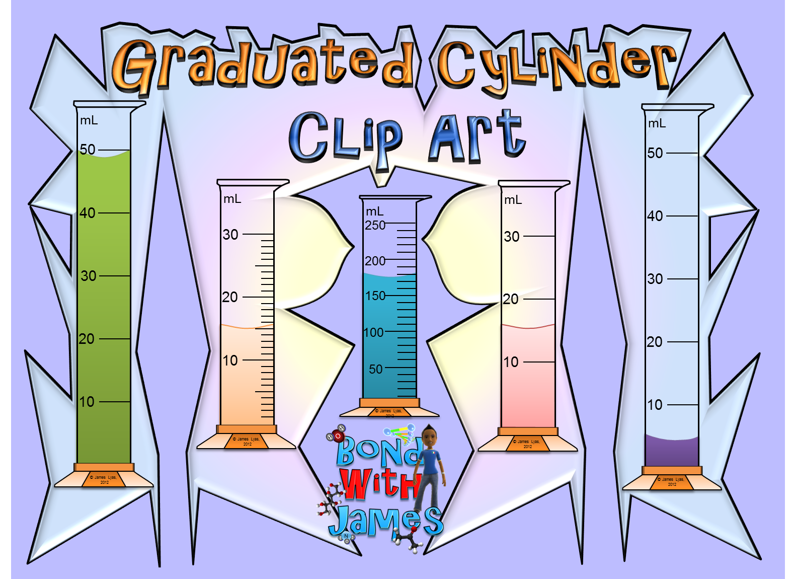 Graduated Cylinders Clip Art