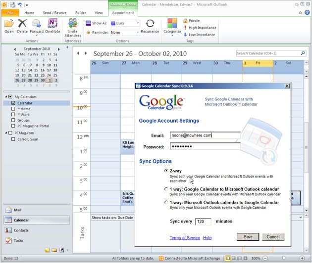 Synch Your Outlook Calendar with Your Google Calendar | For