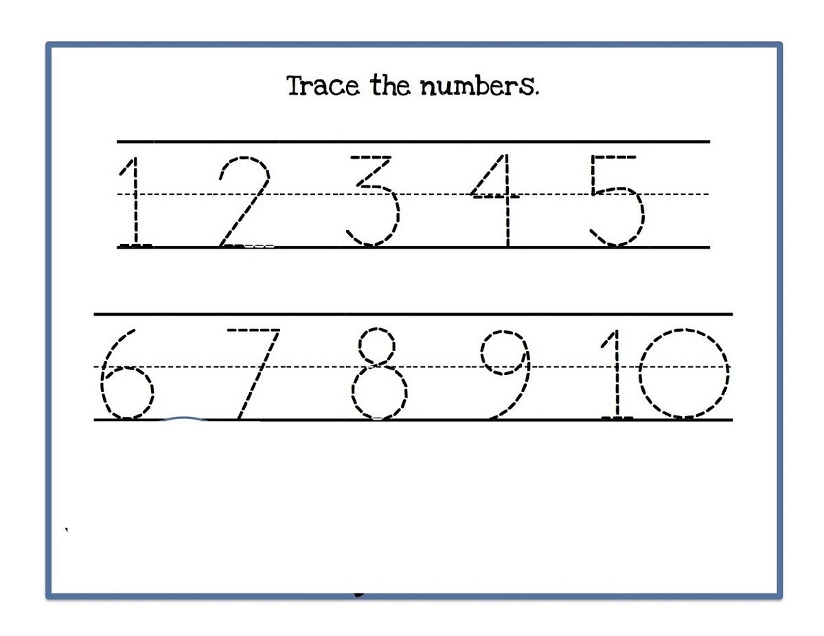 Numbers 1 10 Worksheet Simple