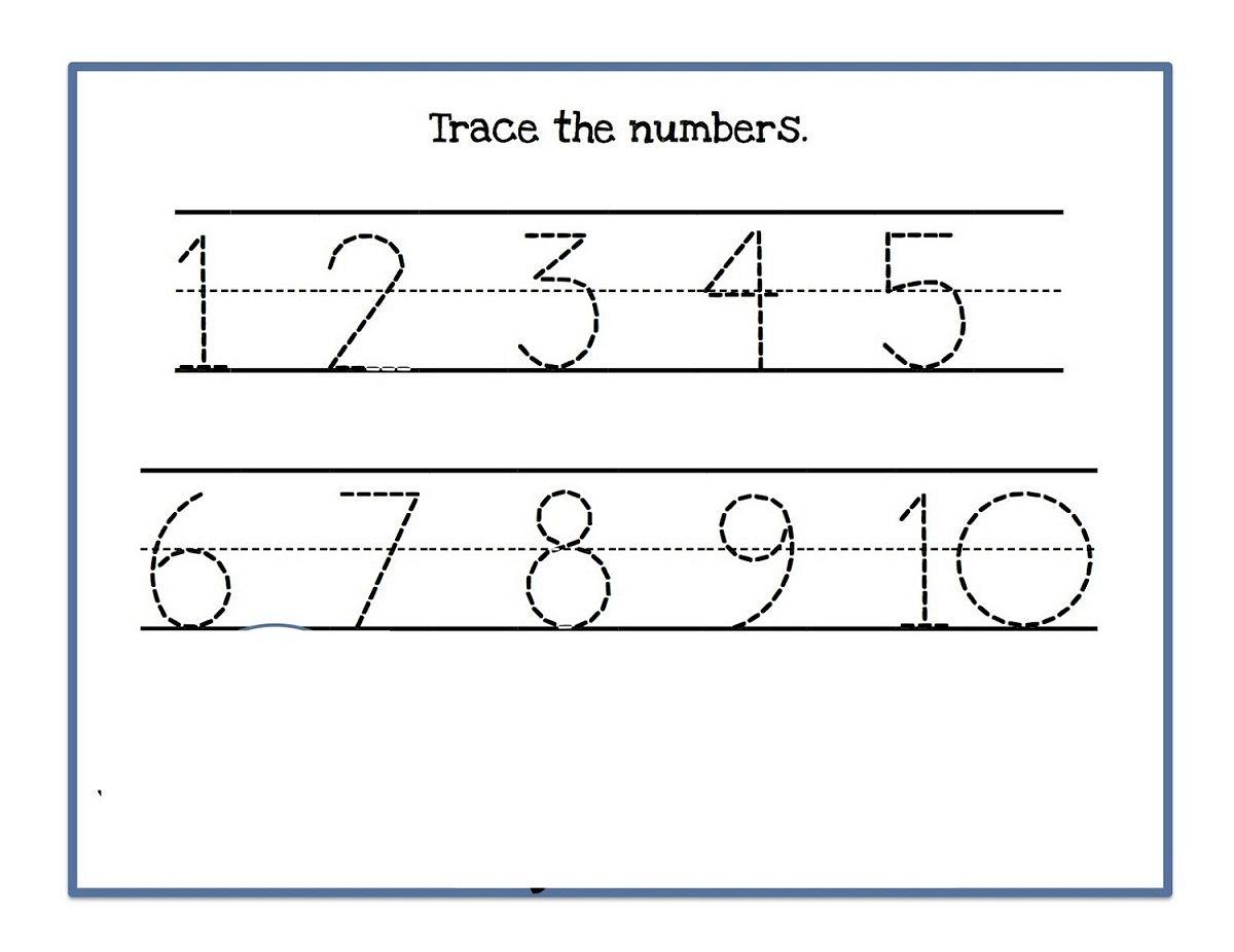 Numbers 1 10 Worksheet Simple