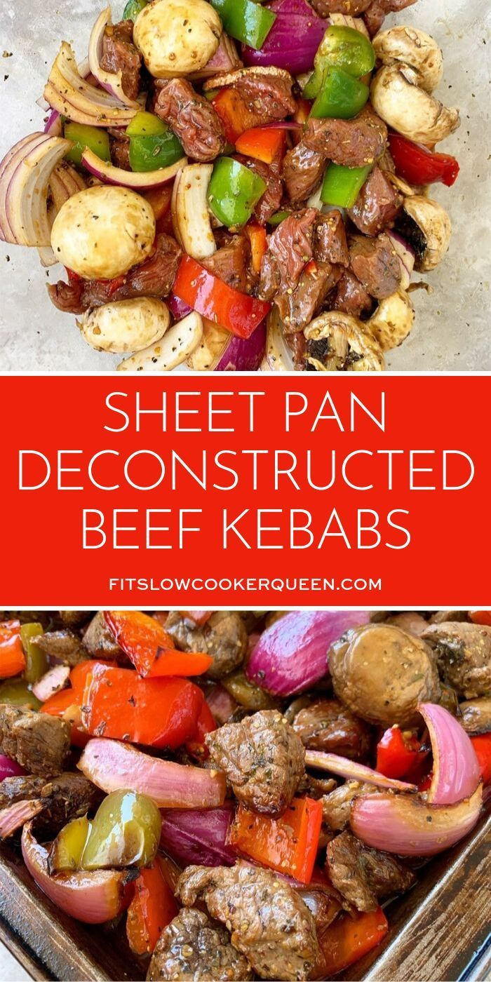 Sheet Pan Deconstructed Beef Kebabs (Low-Carb, Paleo, Whole30)