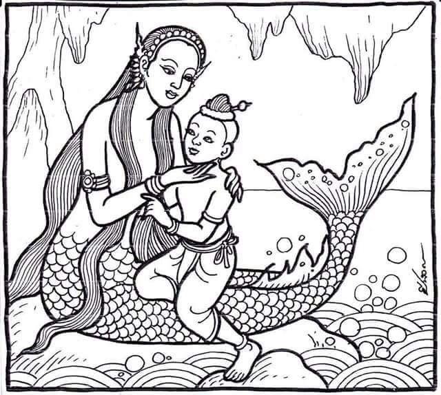 ป กพ นโดย Tinamorris ใน 2 ส ออาช พ ศ ลปะนางเง อก ศ ลปะไทย ภาพวาด