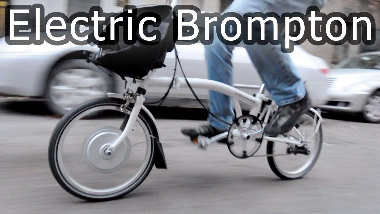 Electric Brompton Bike Most Compact Electric Folding Bicycle Brompton E Bike Kit Bicycle