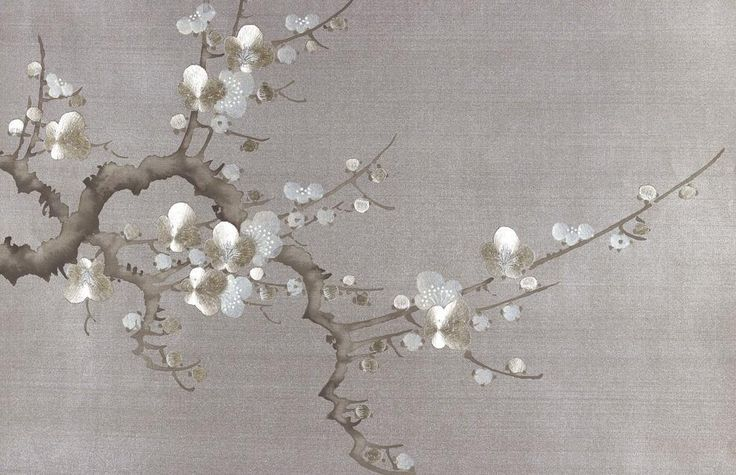 Fromental Wallcovering Cherry Blossoms Handmade Wallpaper Fromental Wallpaper Wallpaper