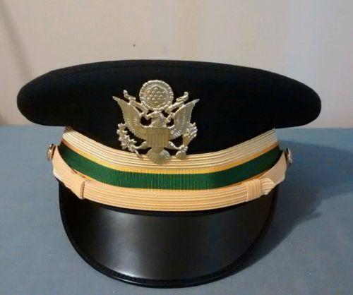 Army officer dress blue cap