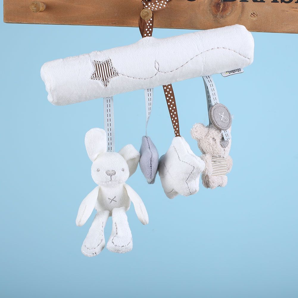 Car mirror hanging toys  Infant Bed Stroller Babyplay Hanging Bell Crib Rattle Cot Car